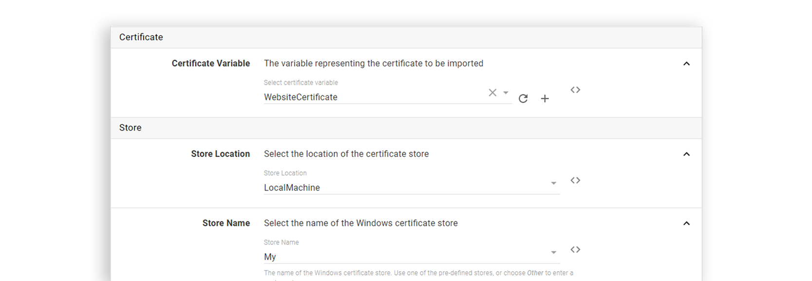 Use steps in Octopus to automatically install certificates to the Windows Certificate store