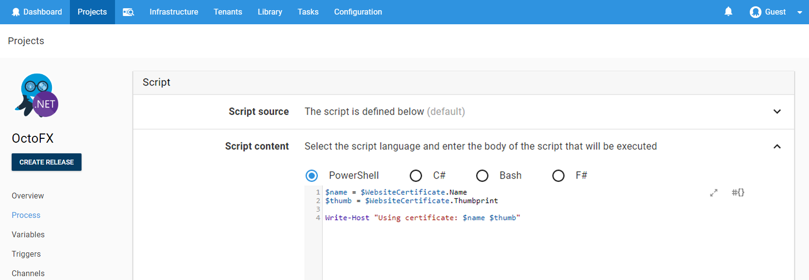 Use certificate properties in conjunction with custom deployment scripts to tap properties such as public key, thumbprint or subject name to use as part of your custom script.