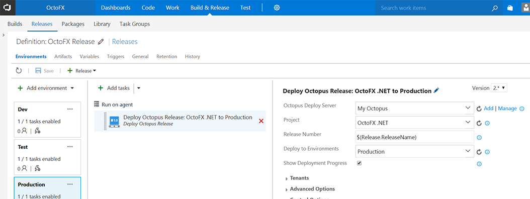 Syncretically take advantage of full VSTS release management but with the added benefit of everything there is to love about Octopus